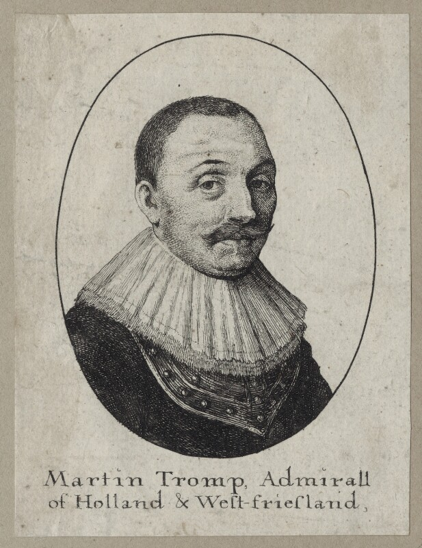 Maarten Tromp, probably by Wenceslaus Hollar, mid 17th century - NPG D30751 - © National Portrait Gallery, London