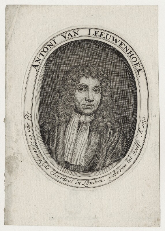 Antonie van Leeuwenhoek, after Jan Verkolje, 17th century - NPG D30759 - © National Portrait Gallery, London