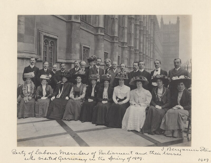 Labour Members of Parliament and their wives who visited Germany in the Spring of 1909' (including Ramsay MacDonald), by Benjamin Stone, 1909 - NPG x36285 - © National Portrait Gallery, London