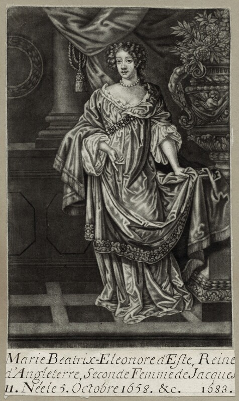 Mary of Modena, after Sir Peter Lely, late 17th century - NPG D30803 - © National Portrait Gallery, London