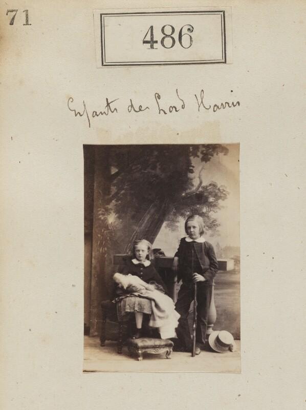 Frances Charlotte Haig (née Harris); George Robert Canning Harris, 4th Baron Harris, by Camille Silvy, 1860 - NPG Ax50202 - © National Portrait Gallery, London