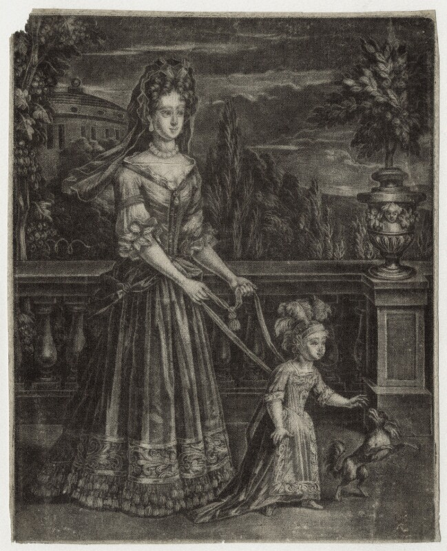 Queen Anne when Princess, after Unknown artist, late 17th century - NPG D30812 - © National Portrait Gallery, London