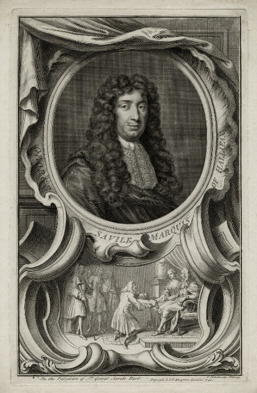 George Savile, 1st Marquess of Halifax, by Jacobus Houbraken, published by  John & Paul Knapton, 1740 - NPG D30823 - © National Portrait Gallery, London