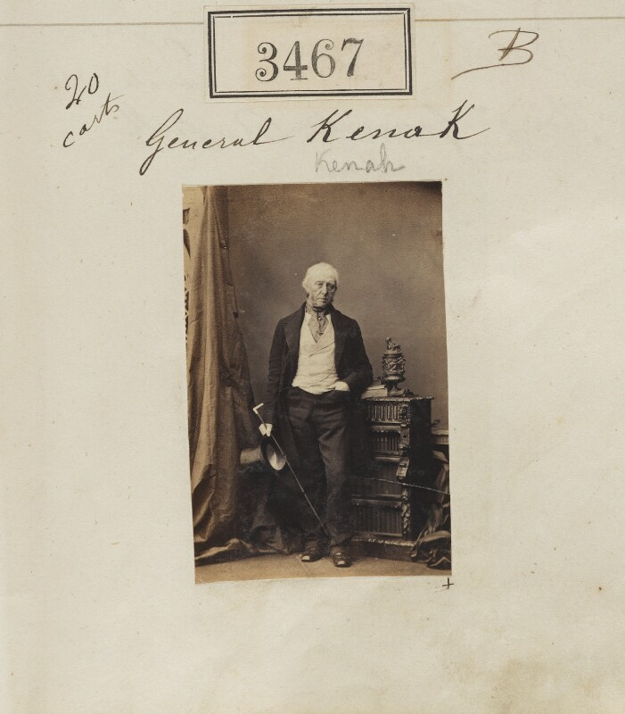Sir Thomas Kenah, by Camille Silvy, 4 May 1861 - NPG Ax52863 - © National Portrait Gallery, London