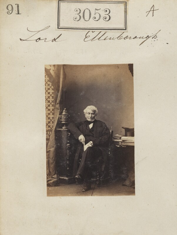 Edward Law, 1st Earl of Ellenborough, by Camille Silvy, 13 April 1861 - NPG Ax52455 - © National Portrait Gallery, London
