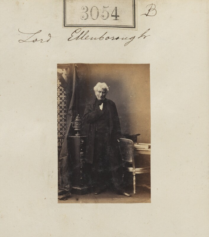 Edward Law, 1st Earl of Ellenborough, by Camille Silvy, 13 April 1861 - NPG Ax52456 - © National Portrait Gallery, London