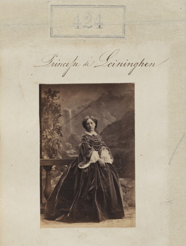 Marie of Baden, Princess of Leiningen, by Camille Silvy, 1860 - NPG Ax50170 - © National Portrait Gallery, London