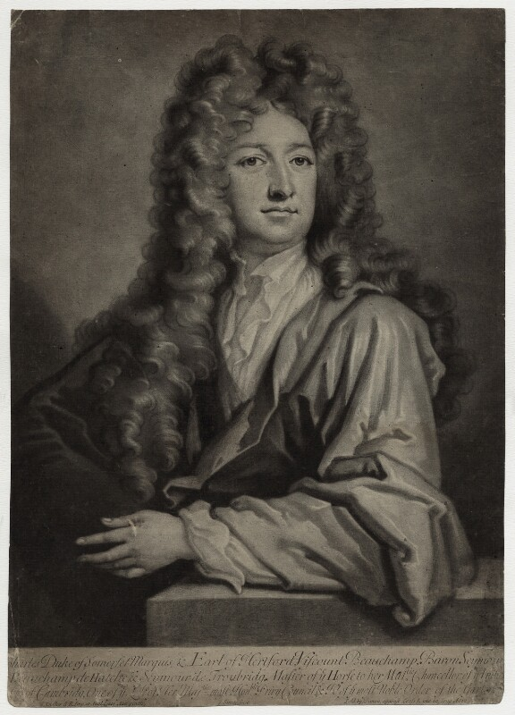 Charles Seymour, 6th Duke of Somerset, by and published by John Simon, after  Sir Godfrey Kneller, Bt, (circa 1703) - NPG D30841 - © National Portrait Gallery, London