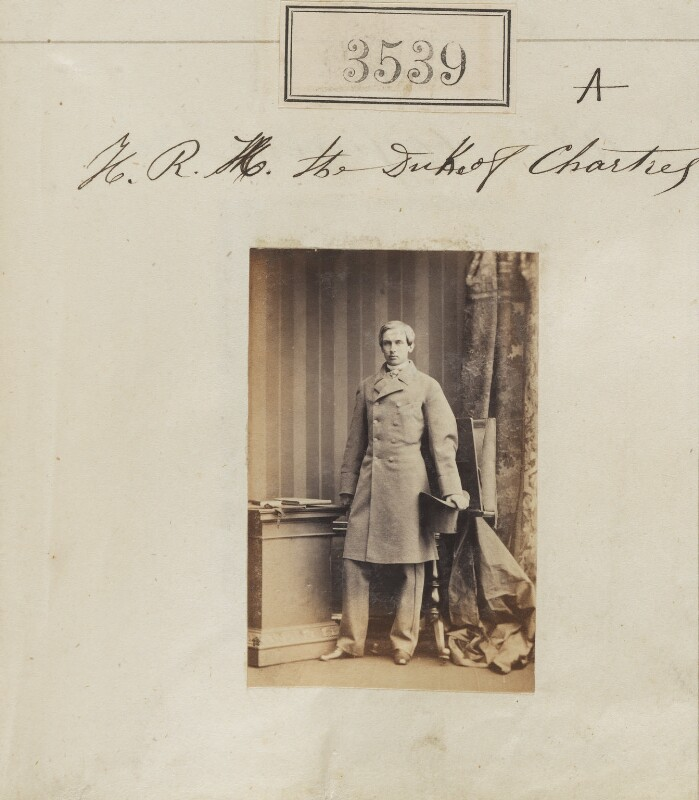 Robert Philippe Louis Eugène Ferdinand d'Orléans, Duke of Chartres, by Camille Silvy, 7 May 1861 - NPG Ax52935 - © National Portrait Gallery, London