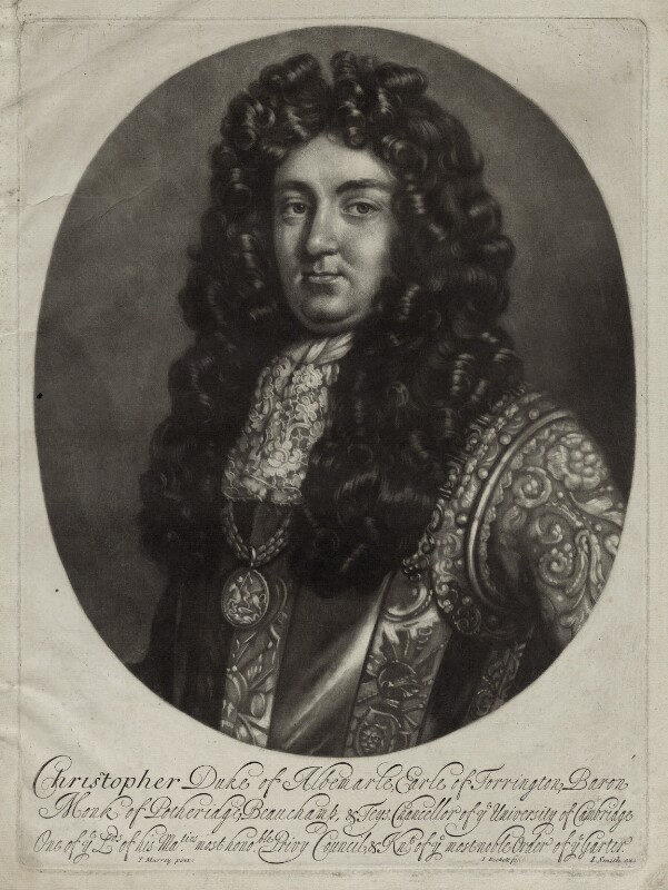 Christopher Monck, 2nd Duke of Albemarle, by Isaac Beckett, after  Thomas Murray, published by  John Smith, 1681-1688 - NPG D30843 - © National Portrait Gallery, London