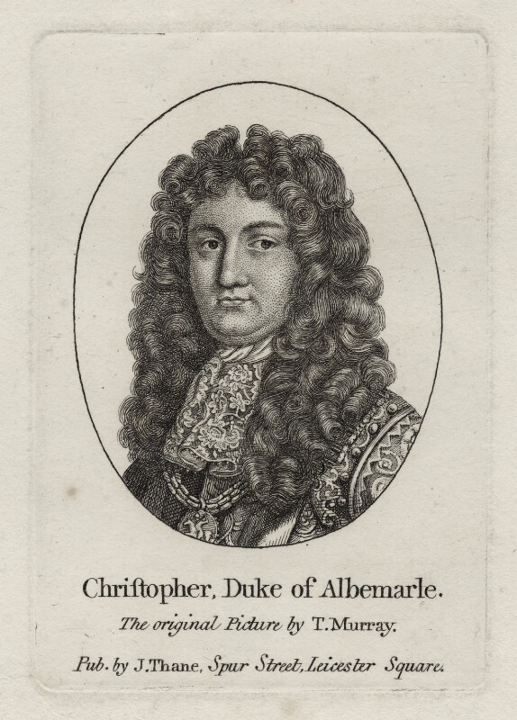 Christopher Monck, 2nd Duke of Albemarle, after Thomas Murray, published by  John Thane, late 18th to early 19th century - NPG D30844 - © National Portrait Gallery, London
