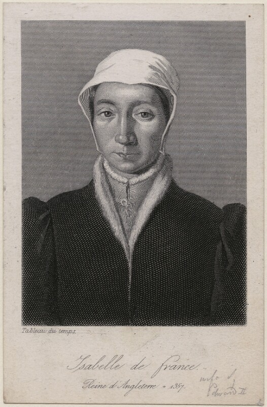 Isabella of France, after Unknown artist, 19th century - NPG D33016 - © National Portrait Gallery, London