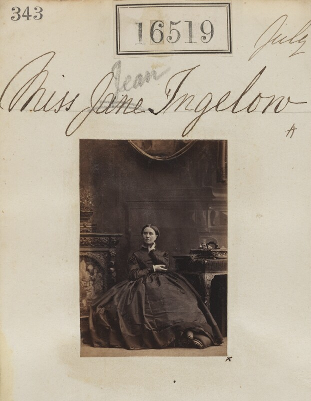 Jean Ingelow, by Camille Silvy, July 1865 - NPG Ax64430 - © National Portrait Gallery, London