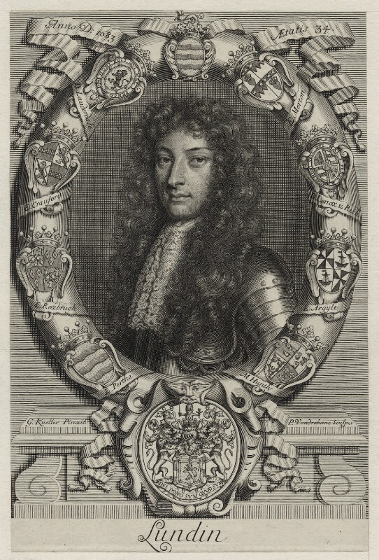 John Drummond, 1st Earl of and titular Duke of Melfort, by Peter Vanderbank (Vandrebanc), after  Sir Godfrey Kneller, Bt, late 17th century - NPG D30869 - © National Portrait Gallery, London