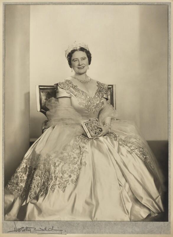 Queen Elizabeth, the Queen Mother, by Dorothy Wilding, 1954 - NPG x34095 - © William Hustler and Georgina Hustler / National Portrait Gallery, London