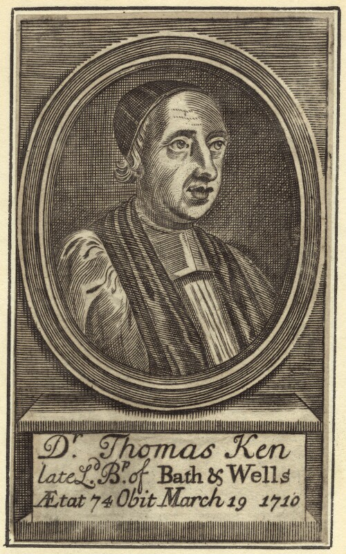 Thomas Ken, after Unknown artist, late 17th to early 18th century - NPG D30896 - © National Portrait Gallery, London