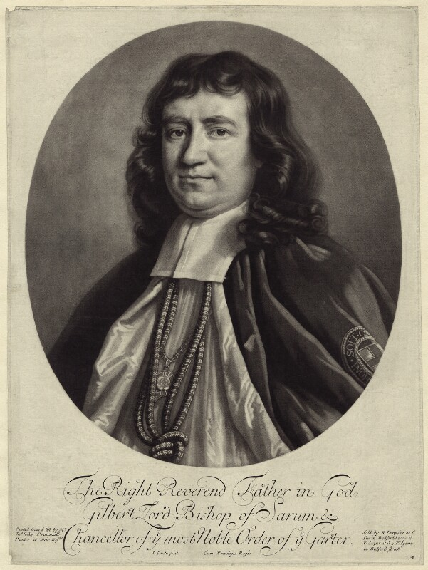 Gilbert Burnet, by John Smith, after  John Riley, published by  Richard Tompson, published by  Edward Cooper, 1690 (circa 1689-1691) - NPG D30912 - © National Portrait Gallery, London