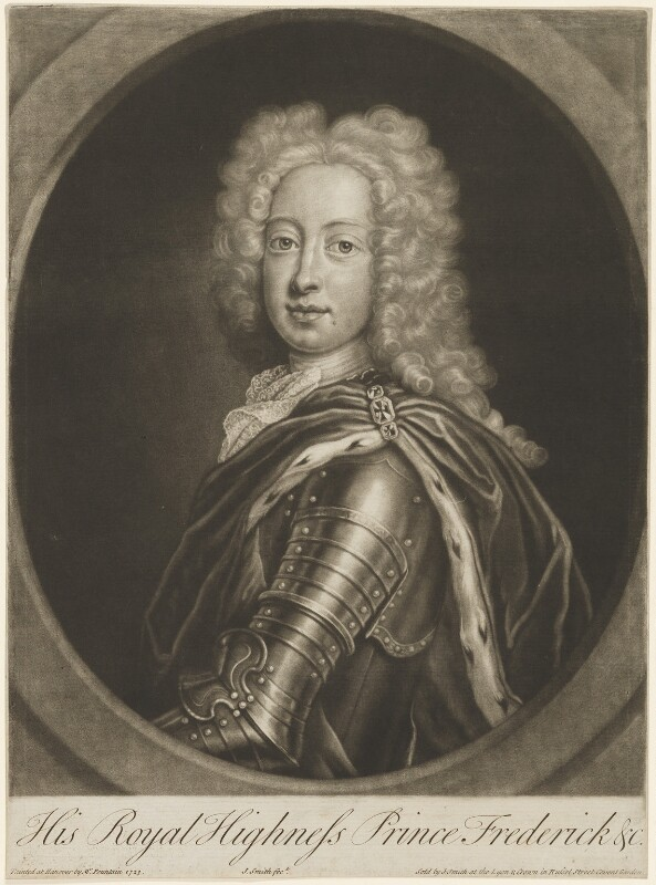 Frederick Lewis, Prince of Wales, by and published by John Smith, after  Georg Wilhelm Lafontaine (Fountain, Fontaine), 1724 (1723) - NPG D33035 - © National Portrait Gallery, London