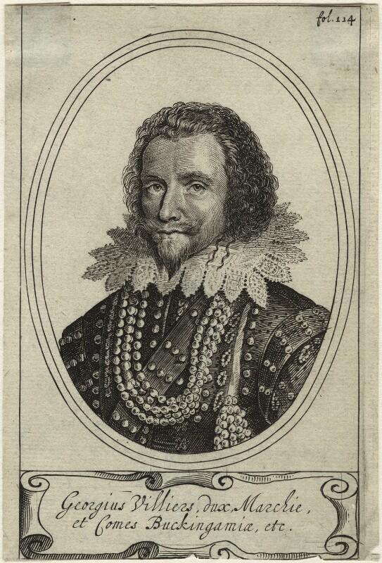 George Villiers, 1st Duke of Buckingham, after Michiel Jansz. van Miereveldt, (circa 1625) - NPG D33052 - © National Portrait Gallery, London