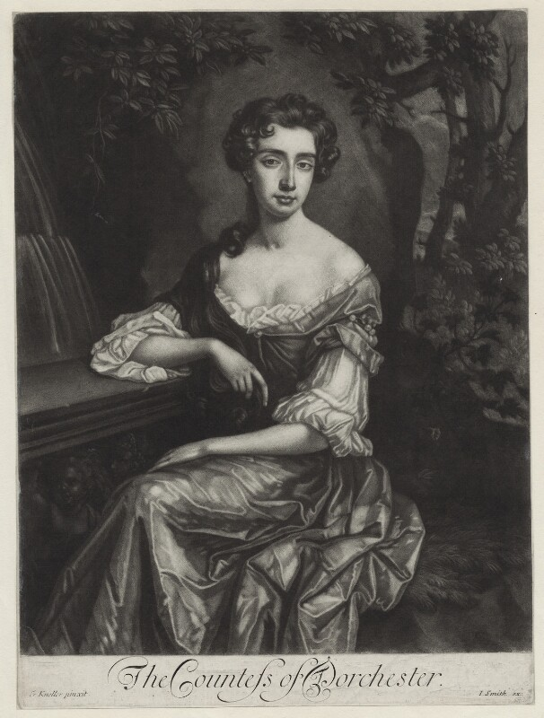 Catherine Sedley, Countess of Dorchester, published by John Smith, after  Sir Godfrey Kneller, Bt, (1687) - NPG D31003 - © National Portrait Gallery, London