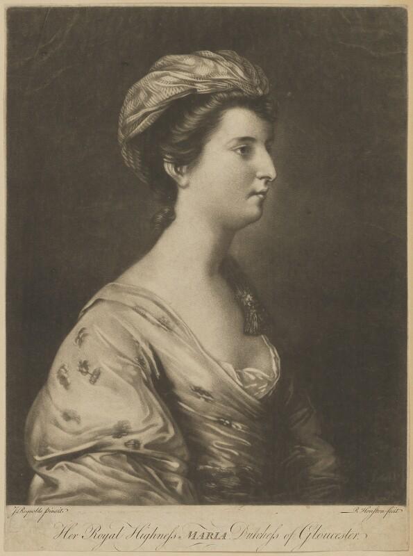 Maria (née Walpole), Duchess of Gloucester and Edinburgh, by Richard Houston, after  Sir Joshua Reynolds, (1760-1761) - NPG D33042 - © National Portrait Gallery, London
