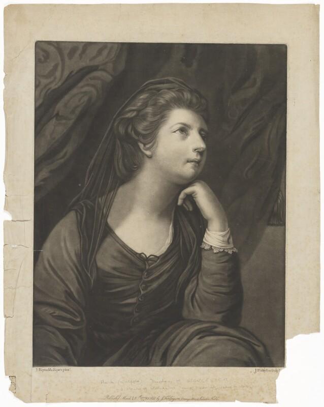 Maria (née Walpole), Duchess of Gloucester and Edinburgh, by John Finlayson, after  Sir Joshua Reynolds, published 1773 - NPG D33046 - © National Portrait Gallery, London