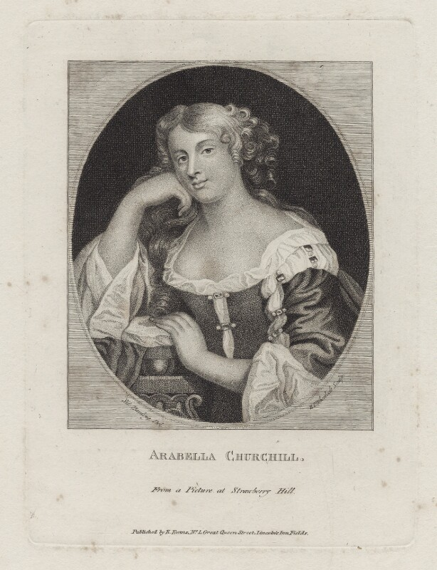 Arabella Godfrey (née Churchill), by William Pengree Sherlock, published by  Edward Evans, after  Silvester Harding, early 19th century - NPG D31023 - © National Portrait Gallery, London