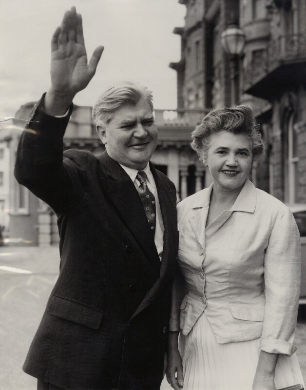 Aneurin Bevan; Jennie Lee, by P.A. Reuter Photos Ltd, 30 September 1956 - NPG x88328 - © EMPICS
