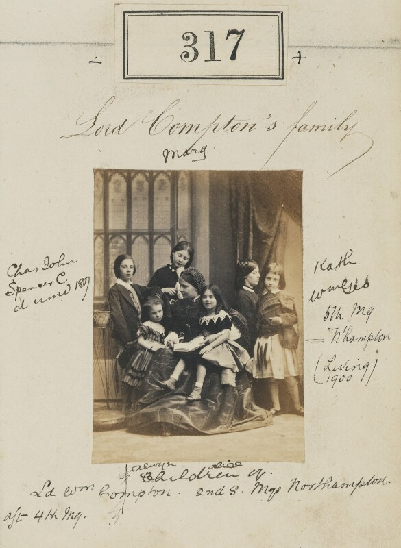 'Lord Compton's family', by Camille Silvy, 1860 - NPG Ax50092 - © National Portrait Gallery, London