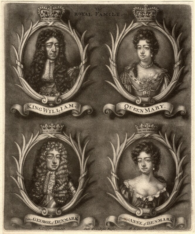 The Royal Family, by Bernard Lens (II), 1689-1702 - NPG D9250 - © National Portrait Gallery, London