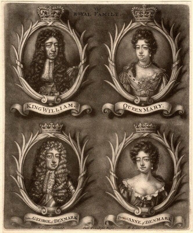 The Royal Family, by Bernard Lens (II), 1689-1702 - NPG D9250 - © National Portrait Gallery, London