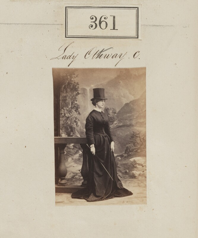 Eliza Price Noble (née Campbell), Lady Otway (later Mrs Leathem), by Camille Silvy, 1860 - NPG Ax50125 - © National Portrait Gallery, London