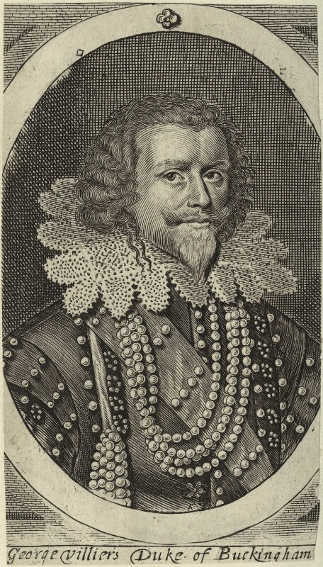 George Villiers, 1st Duke of Buckingham, after Michiel Jansz. van Miereveldt, (circa 1625) - NPG D33056 - © National Portrait Gallery, London