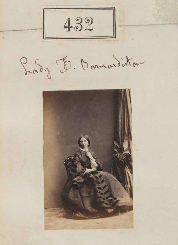 Lady Florence Barnardiston (née Legge), by Camille Silvy, 1860 - NPG Ax50173 - © National Portrait Gallery, London