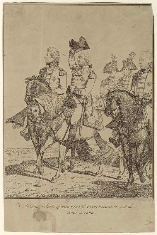 King George IV; King George III; Frederick, Duke of York and Albany, by C. Tomkins, circa 1775-1800 - NPG D33138 - © National Portrait Gallery, London