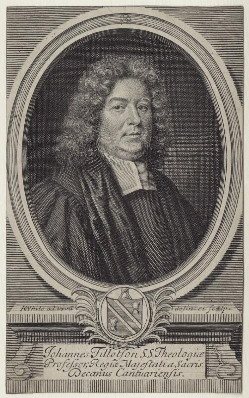 John Tillotson, by Robert White, published 1688 - NPG D31119 - © National Portrait Gallery, London