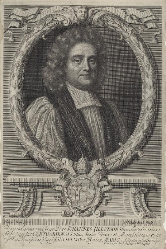 John Tillotson, by Peter Vanderbank (Vandrebanc), after  Mary Beale, late 17th century - NPG D31124 - © National Portrait Gallery, London