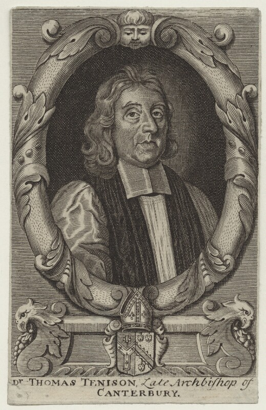 Thomas Tenison, after Robert White, after 1715 - NPG D31128 - © National Portrait Gallery, London