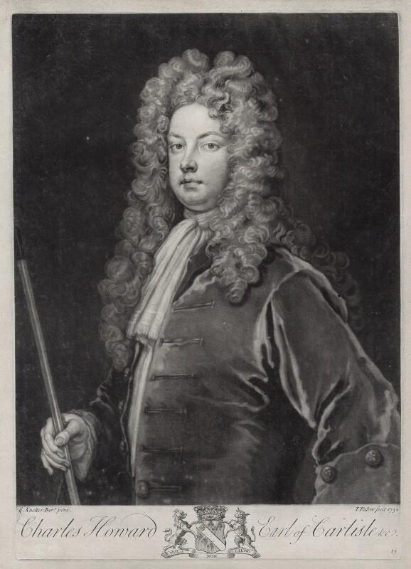 Charles Howard, 3rd Earl of Carlisle, by John Faber Jr, after  Sir Godfrey Kneller, Bt, 1732 - NPG D33106 - © National Portrait Gallery, London