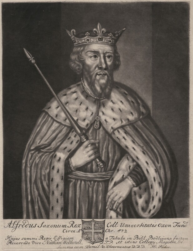King Alfred ('The Great'), by John Faber Sr, 1712 - NPG D9257 - © National Portrait Gallery, London