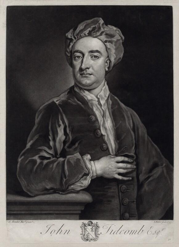 John Tidcomb, by John Faber Jr, after  Sir Godfrey Kneller, Bt, 1735 - NPG D33124 - © National Portrait Gallery, London