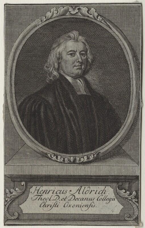 Henry Aldrich, after Sir Godfrey Kneller, Bt, mid 18th century - NPG D31140 - © National Portrait Gallery, London