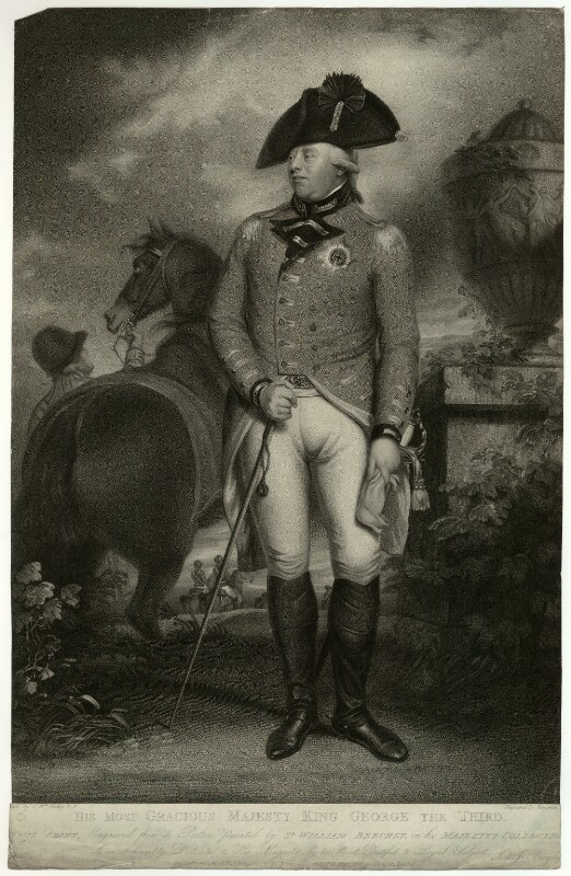 King George III, by Benjamin Smith, published by  John Boydell, and published by  Josiah Boydell, after  Sir William Beechey, published 1 December 1804 - NPG D33154 - © National Portrait Gallery, London