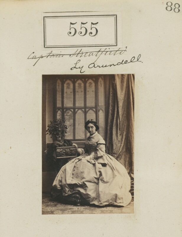Theresa (née Stourton), Lady Arundell of Wardour, by Camille Silvy, 1860 - NPG Ax50249 - © National Portrait Gallery, London