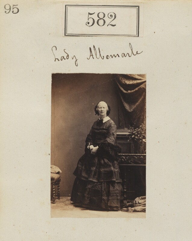 Susan (née Trotter), Countess of Albemarle, by Camille Silvy, 1860 - NPG Ax50263 - © National Portrait Gallery, London