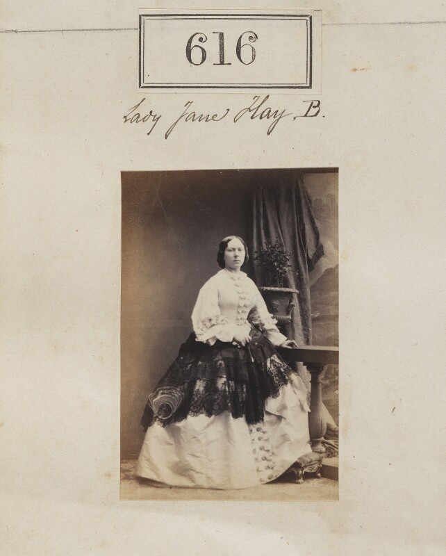 Jane (née Hay), Lady Taylor, by Camille Silvy, 1860 - NPG Ax50287 - © National Portrait Gallery, London