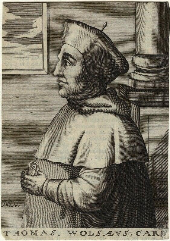 Thomas Wolsey, by Nicolas de Larmessin, 17th century - NPG D33087 - © National Portrait Gallery, London