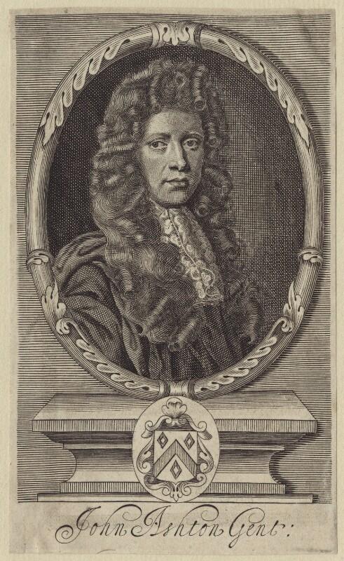 John Ashton, by Robert White, after  John Riley, late 17th century - NPG D31225 - © National Portrait Gallery, London