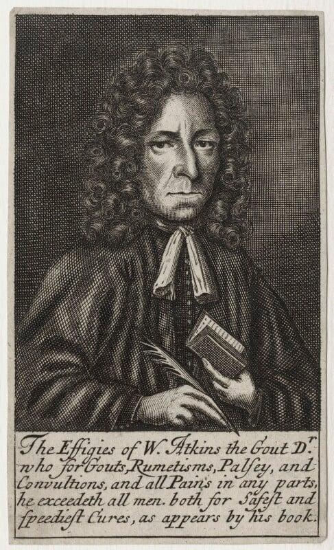 William Atkins, possibly by Frederick Hendrik van Hove, published 1694 - NPG D31245 - © National Portrait Gallery, London