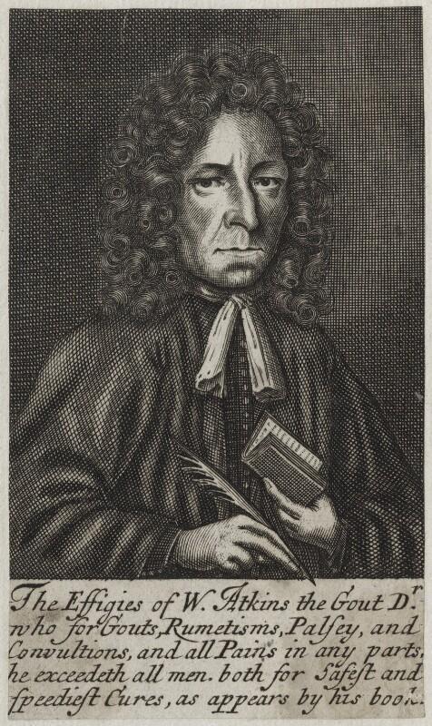 William Atkins, possibly by Frederick Hendrik van Hove, published 1694 - NPG D31246 - © National Portrait Gallery, London